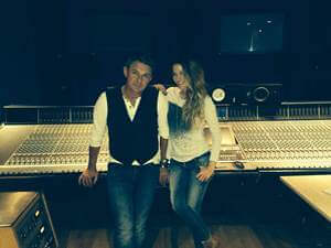 Don Mescall with Kirsty Bertarelli in the Studio
