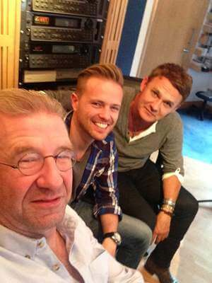 Don Mescall, Ronan Hardiman and Nicky Byrne
