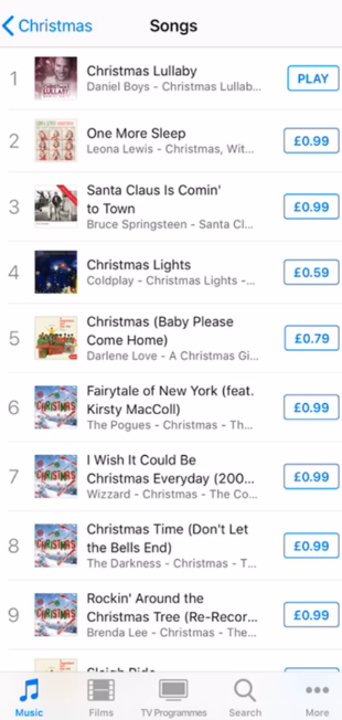 christmas lullaby at number 1